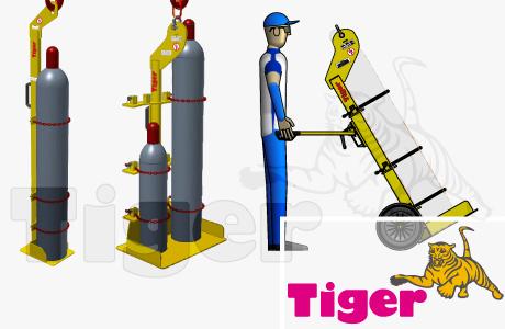 Gas- und Stahlflaschenheber Kran- und Staplerbetrieb
