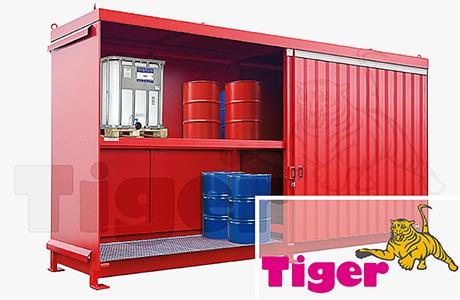 Regalcontainer zur Lagerung von Fässer IBC-Behälter